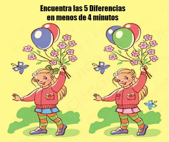 Encuentra las 5 Diferencias
